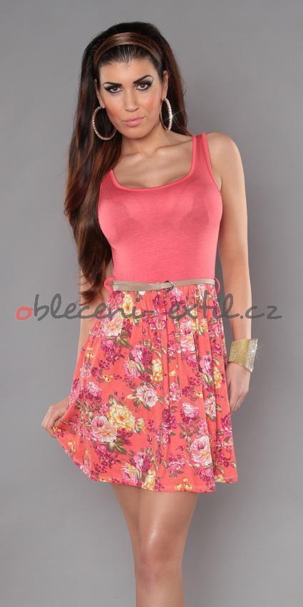Dámské šaty na léto Queen o.f. in-sat156pi - oblečení textil 212917be78