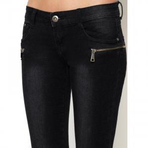 Dámské slim černé džíny EU si-ri03