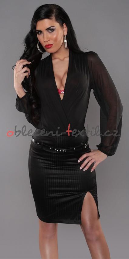 5330990f2394 Dámská černá sukně Koucla in-su15bl - oblečení textil