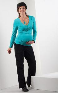 Těhotenské tričko Nefrit