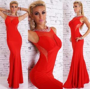 Dámské šaty červené EU st-sa150re