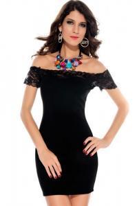 Dámské šaty s krajkou Damson d-sat048bl